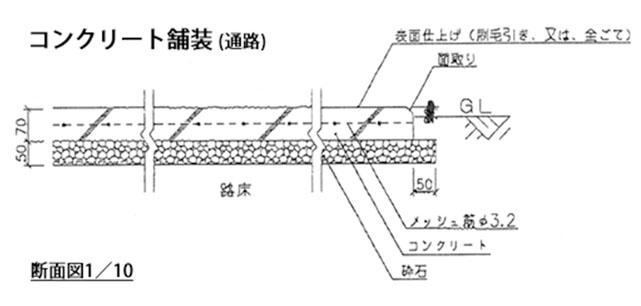 コンクリート舗装(通路)